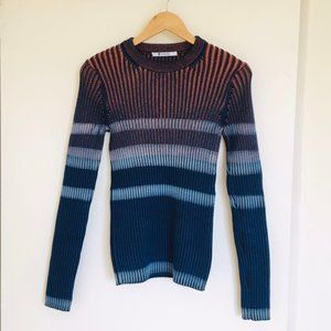 New T By Alexander Wang Ribed Interval Dye Sweater